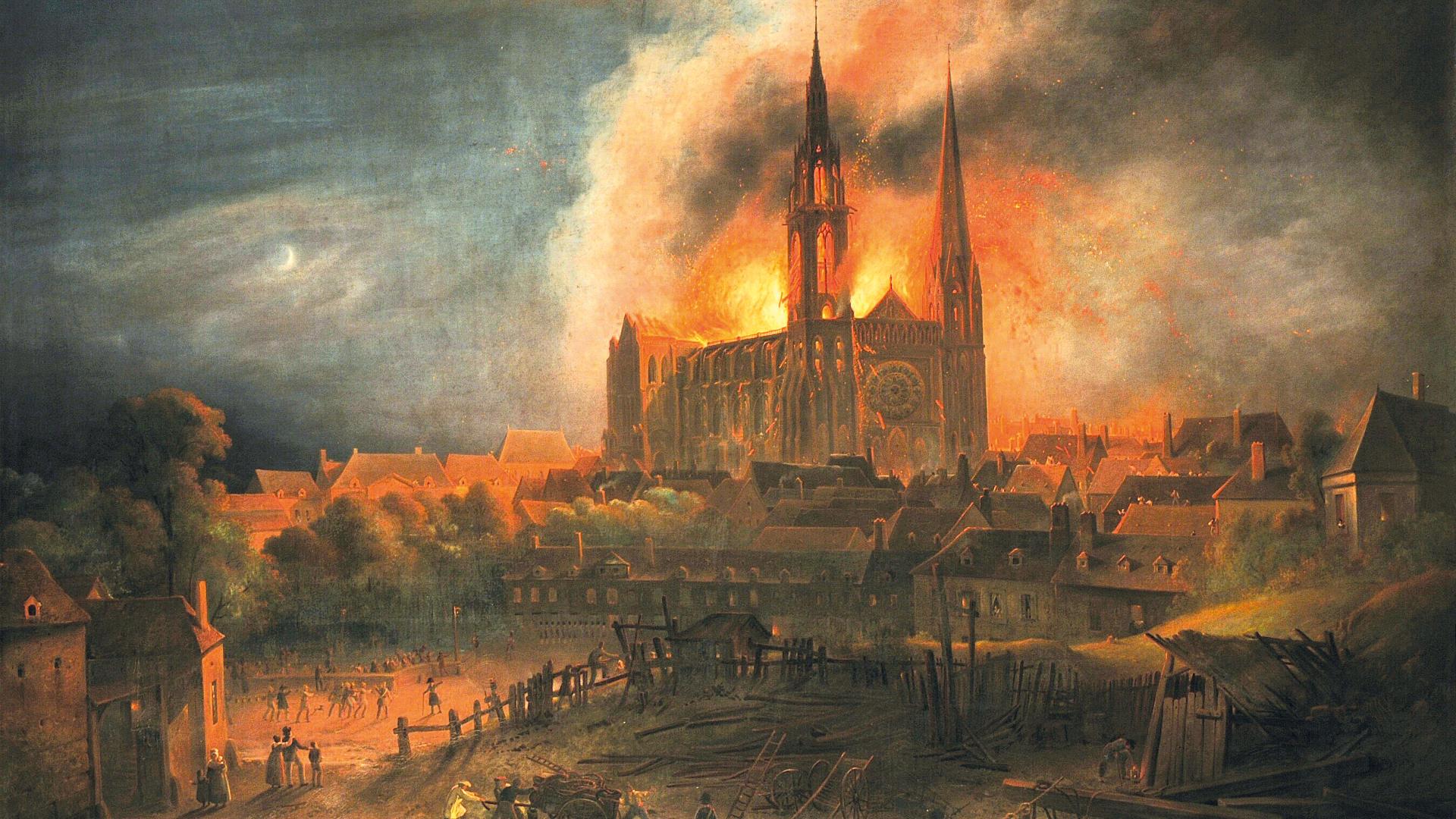 Chartres - 1836, incendie de la cathédrale de Chartres – Épisode 1/3