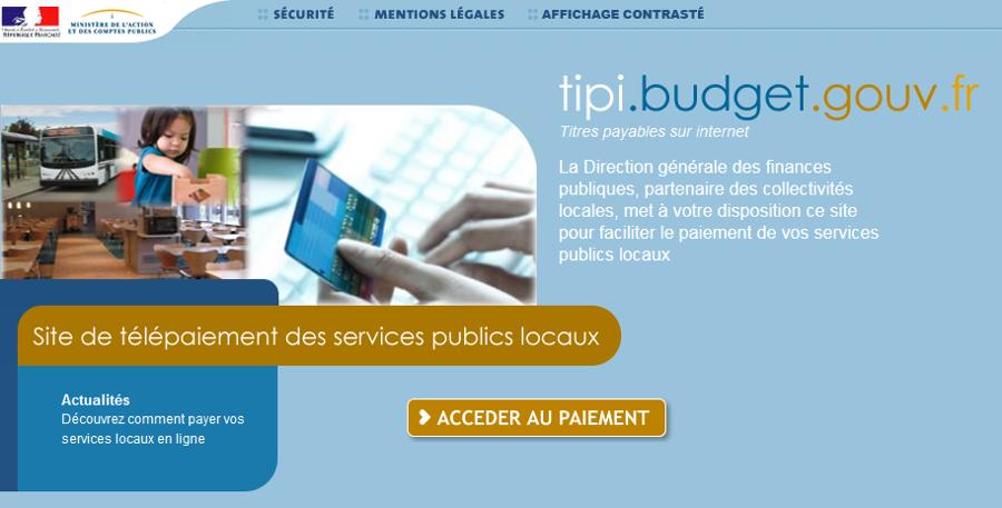 Comment payer vos factures avec le paiement TiPI ? Étape 1 : le portail de paiement – Ville de Chartres